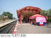 Купить «Железнодорожная станция города Хуа Хин. Таиланд», фото № 5871836, снято 19 января 2014 г. (c) Виктор Карасев / Фотобанк Лори