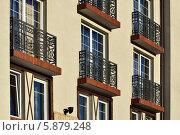 Купить «Французские балконы», фото № 5879248, снято 21 января 2014 г. (c) Сергей Трофименко / Фотобанк Лори