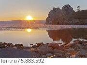 Купить «Байкал. Весенний закат на острове Ольхон», фото № 5883592, снято 3 мая 2014 г. (c) Виктория Катьянова / Фотобанк Лори