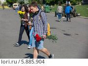 Купить «День Победы в Москве», фото № 5885904, снято 9 мая 2014 г. (c) Okssi / Фотобанк Лори