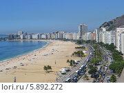 Пляж Копакабана, Рио-де-Жанейро, Бразилия (2011 год). Редакционное фото, фотограф Рада Тумашкова / Фотобанк Лори