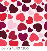 Купить «Фон из сердечек на День святого Валентина», иллюстрация № 5897956 (c) Юлия Гапеенко / Фотобанк Лори