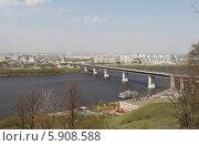 Купить «Нижний Новгород, панорамный вид на Оку и Метромост», эксклюзивное фото № 5908588, снято 2 мая 2014 г. (c) Дмитрий Неумоин / Фотобанк Лори