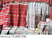 Купить «Белорусские рушники», фото № 5909196, снято 16 мая 2014 г. (c) Ольга Коцюба / Фотобанк Лори