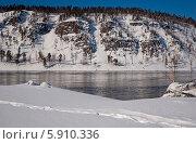 Купить «Река Ангара в зимний день», эксклюзивное фото № 5910336, снято 6 марта 2011 г. (c) Svet / Фотобанк Лори