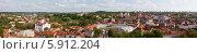 Купить «Литва. Вильнюс. Панорамный  вид на исторический центр города», эксклюзивное фото № 5912204, снято 1 мая 2014 г. (c) Литвяк Игорь / Фотобанк Лори