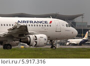 Самолет Air France Airbus A319-111 (2014 год). Редакционное фото, фотограф Артур Буйбаров / Фотобанк Лори