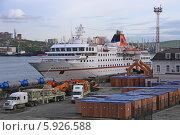 Купить «Круизный лайнер MS Hanseatic в порту Владивостока», эксклюзивное фото № 5926588, снято 16 мая 2014 г. (c) Алексей Гусев / Фотобанк Лори