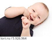 Малыш смеется. Стоковое фото, фотограф Nikolay Kostochka / Фотобанк Лори