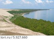 Движущаяся песчаная дюна наступает. Куршская коса (2014 год). Редакционное фото, фотограф Svet / Фотобанк Лори