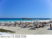 Пляж Нисси, Кипр (2013 год). Редакционное фото, фотограф Алексей Петров / Фотобанк Лори