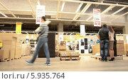 Магазин мебели «ИКЕА», торговый зал (2014 год). Редакционное видео, видеограф Кекяляйнен Андрей / Фотобанк Лори