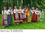 Купить «Праздник Троица В России, фольклор и народные гуляния», фото № 5939072, снято 23 июня 2013 г. (c) ElenArt / Фотобанк Лори