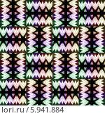 Купить «Бесшовный плетёный орнамент в ярких тонах», иллюстрация № 5941884 (c) Astronira / Фотобанк Лори
