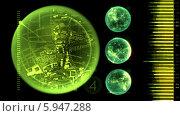 Экран радара. Стоковая анимация, видеограф Александр Дейнега / Фотобанк Лори