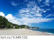 Абхазия, Пицунда. Сосновый пляж. Стоковое фото, фотограф Анна Кудрявцева / Фотобанк Лори