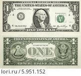 Купить «Лицевая и обратная сторона купюр достоинством один доллар США», фото № 5951152, снято 28 мая 2014 г. (c) Александр Степанов / Фотобанк Лори