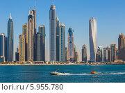Купить «Дубай-Марина. ОАЭ», фото № 5955780, снято 7 ноября 2013 г. (c) Олег Жуков / Фотобанк Лори