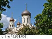 Купить «Церковь Серафима Саровского в Раево, Медведково, Москва», эксклюзивное фото № 5961008, снято 15 мая 2014 г. (c) lana1501 / Фотобанк Лори