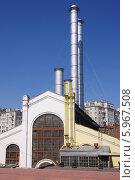 Купить «ГЭС-2 (филиал ГЭС-1) на Болотной набережной. Москва», эксклюзивное фото № 5967508, снято 31 мая 2014 г. (c) Илюхина Наталья / Фотобанк Лори