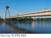 Новый мост в Братиславе (2014 год). Редакционное фото, фотограф Евгений Нелихов / Фотобанк Лори