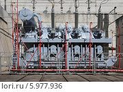 Купить «Трансформатор силовой масляный общего назначения», эксклюзивное фото № 5977936, снято 30 мая 2014 г. (c) Алексей Гусев / Фотобанк Лори
