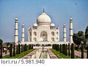 Купить «Индия. Тадж-Махал», фото № 5981940, снято 7 марта 2012 г. (c) Екатерина Осекина / Фотобанк Лори