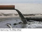 Слив сточных вод неподалеку от моря. Стоковое фото, фотограф Наташа Антонова / Фотобанк Лори