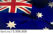 Купить «Large australia national flag waving », видеоролик № 5998808, снято 20 февраля 2020 г. (c) Wavebreak Media / Фотобанк Лори