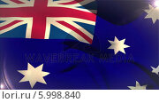 Купить «Large australia national flag waving », видеоролик № 5998840, снято 20 февраля 2020 г. (c) Wavebreak Media / Фотобанк Лори