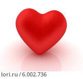 Купить «Красное сердце на белой поверхности с рефлексом», иллюстрация № 6002736 (c) Guru3d / Фотобанк Лори