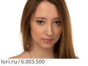 Портрет молодой женщины крупным планом. Стоковое фото, фотограф Natalia Bogdanova / Фотобанк Лори
