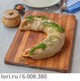 Купить «Ханума, или ханом - рулет из теста и мясной начинкой, традиционное блюдо азиатской кухни, приготовленное на пару», фото № 6008380, снято 15 июня 2014 г. (c) Олеся Сарычева / Фотобанк Лори