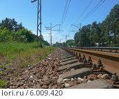 Купить «Железнодорожное полотно», фото № 6009420, снято 14 июня 2014 г. (c) Шевцова Анна / Фотобанк Лори