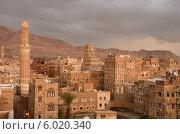 Купить «Историческая часть Саны- столицы Йемена вечером», фото № 6020340, снято 31 марта 2014 г. (c) Овчинникова Ирина / Фотобанк Лори