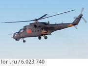 Купить «Армейский ударный вертолёт Ми-24», эксклюзивное фото № 6023740, снято 30 января 2014 г. (c) Александр Тарасенков / Фотобанк Лори