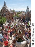 Купить «Парк Гуэль. Барселона. Испания», эксклюзивное фото № 6030180, снято 16 сентября 2013 г. (c) Svet / Фотобанк Лори
