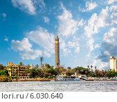 Каир, башня Каир в Египте на реке Нил, фото № 6030640, снято 13 апреля 2014 г. (c) Антон Куделин / Фотобанк Лори