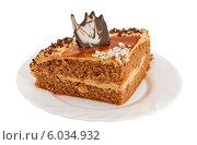 Кусок торта на тарелке. Стоковое фото, фотограф Александр Власик / Фотобанк Лори