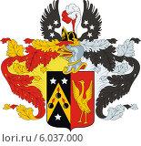 Купить «Герб рода Журавлёвых», иллюстрация № 6037000 (c) VectorImages / Фотобанк Лори
