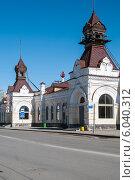 Купить «Фрагмент железнодорожного вокзала Пермь I», фото № 6040312, снято 14 мая 2012 г. (c) Elena Monakhova / Фотобанк Лори