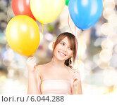 Купить «happy teenage girl with balloons», фото № 6044288, снято 4 октября 2009 г. (c) Syda Productions / Фотобанк Лори