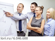 Купить «business team with flip board having discussion», фото № 6046688, снято 9 ноября 2013 г. (c) Syda Productions / Фотобанк Лори