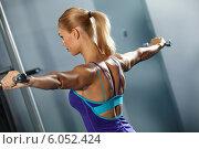 Купить «Shoulder workout», фото № 6052424, снято 20 октября 2012 г. (c) Sergey Nivens / Фотобанк Лори