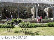 Купить «Открытые вольеры в Ленинградском зоопарке», эксклюзивное фото № 6059124, снято 5 июня 2014 г. (c) Дмитрий Нейман / Фотобанк Лори