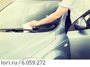 Купить «parking ticket on car windscreen», фото № 6059272, снято 5 июля 2013 г. (c) Syda Productions / Фотобанк Лори
