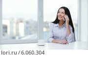 Купить «Woman with cell phone making a call», видеоролик № 6060304, снято 11 ноября 2013 г. (c) Syda Productions / Фотобанк Лори