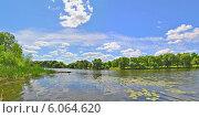 Красивые облака над рекой. Стоковое фото, фотограф ВЛАДИМИР КУШПИЛЬ / Фотобанк Лори