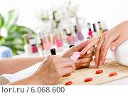 Купить «Woman at beauty salon», фото № 6068600, снято 14 августа 2013 г. (c) Sergey Nivens / Фотобанк Лори