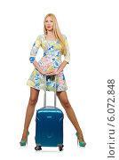 Купить «Young woman preparing for summer vacation», фото № 6072848, снято 29 мая 2014 г. (c) Elnur / Фотобанк Лори